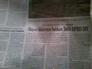 koran DPRD DIY